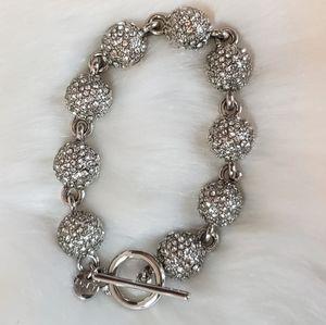LOFT Brand Silver Rhinestone Bracelet
